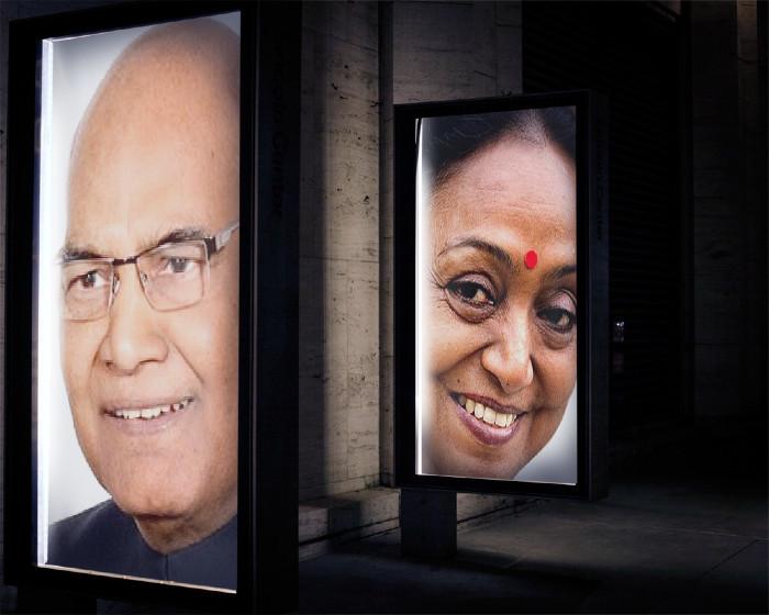 Ram Nath Kovind and Meira Kumar