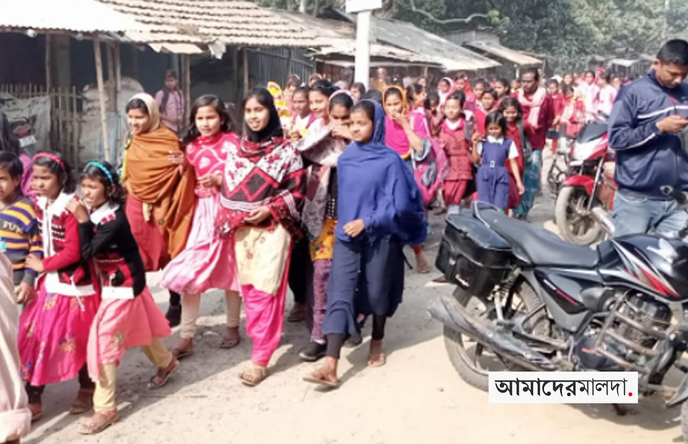 Students protest against teacher transfer from govt school