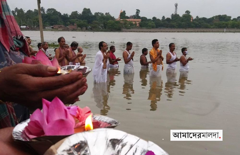 Thousands of people performed tarpan in malda
