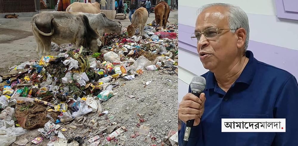 Shakti Pada Patra expressing anger over the cleaning program