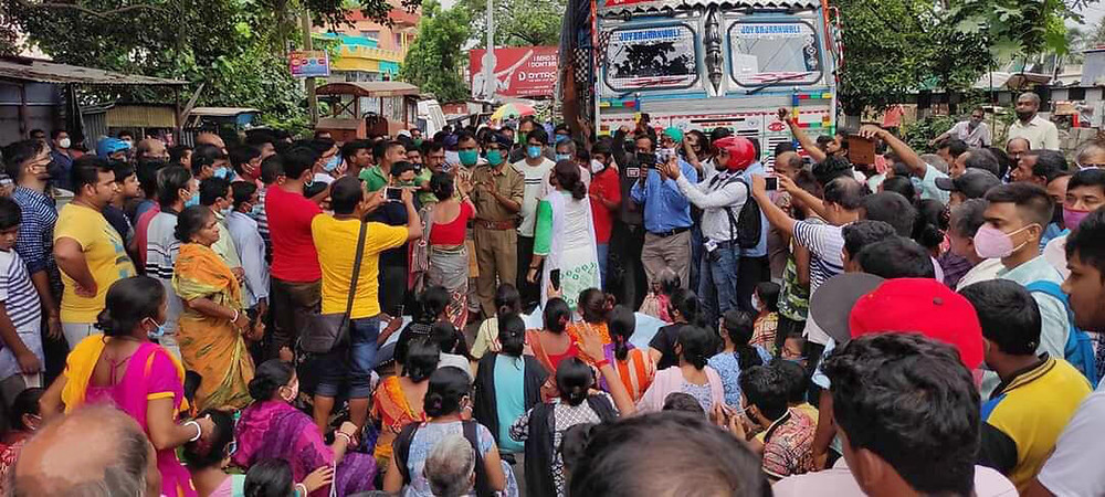 English Bazar Ward 3 residents block National Highway