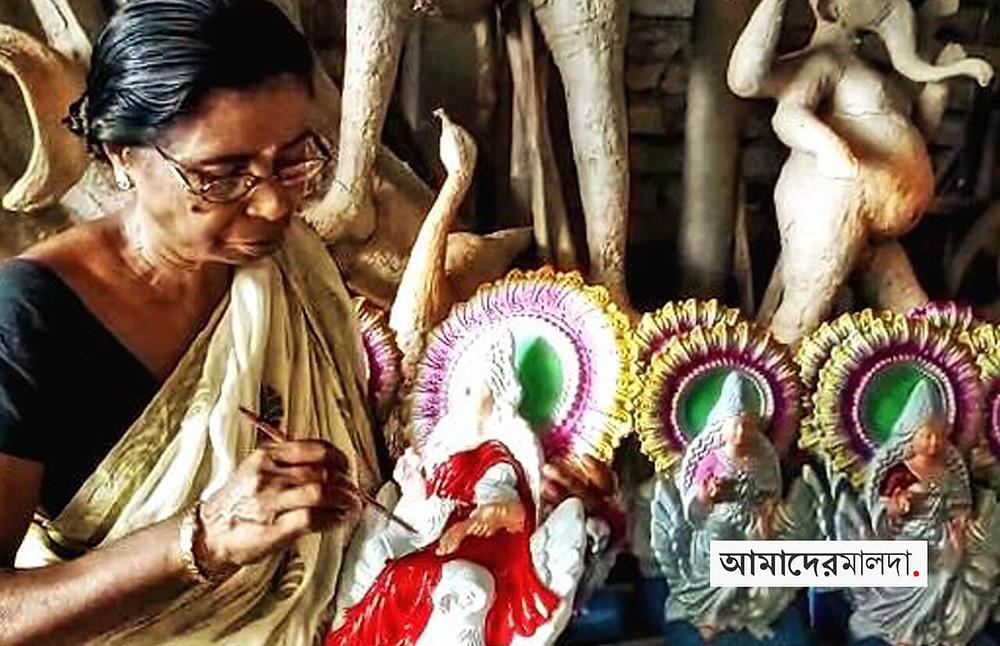 Artists tend to build Lakshmi idols