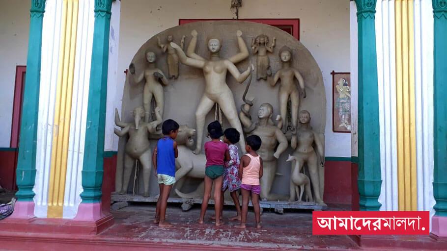 No entry to pujo temple of Rajbari during Corona
