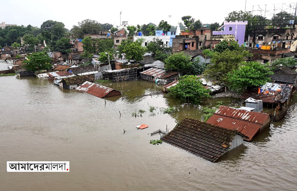 Water level of 3 rivers rise almost to danger level in Malda