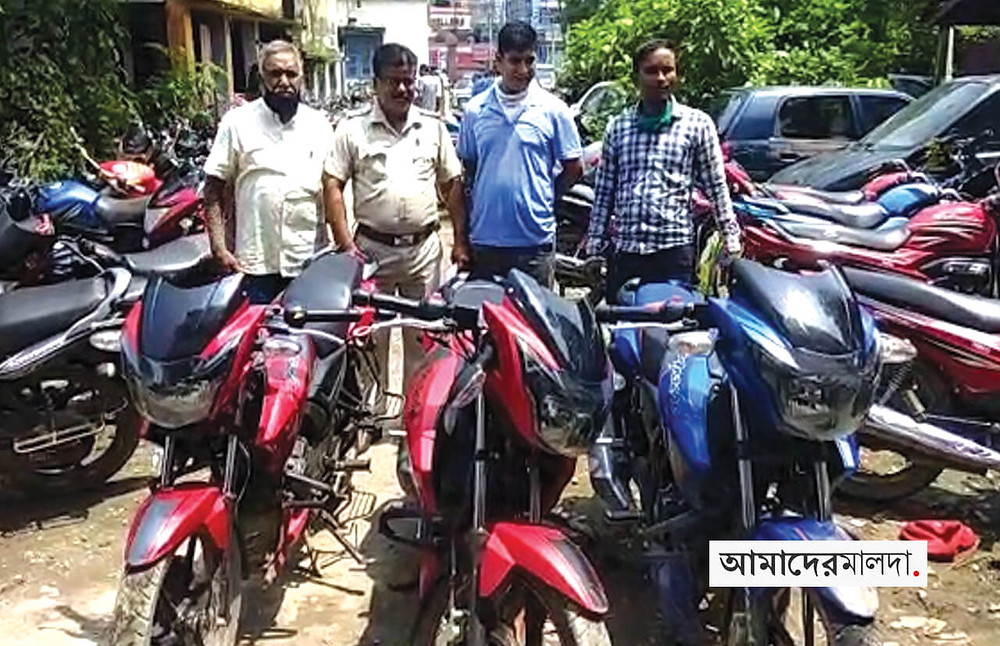 Firearms and stolen motorbikes recovered in English Bazar