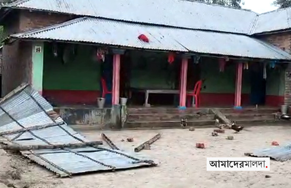 TMC panchayat member house vandalized arson charges