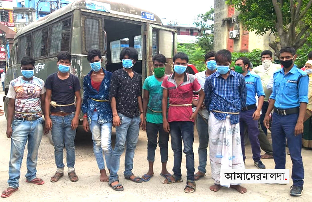 Gang of miscreants caught in English Bazar