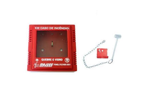Caixa Porta Chave de Emergência c/ Martelo