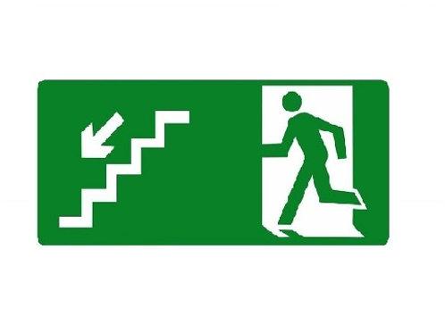 Placa - Descendo Escada à Esquerda