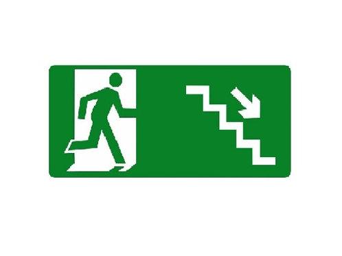 Placa - Descendo Escada à Direita