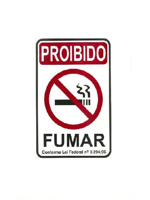Placa - Proibido Fumar
