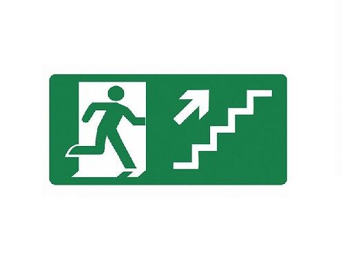 Placa - Subindo Escada à Direita