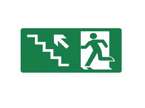 Placa - Subindo Escada à Esquerda