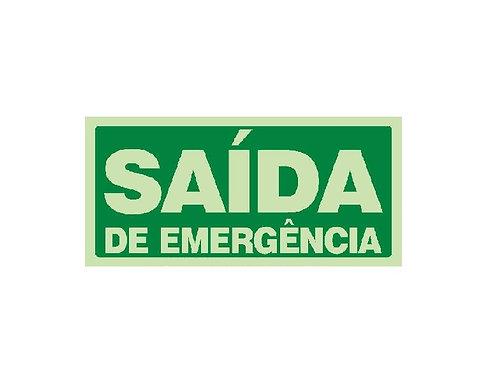 Placa- Saída de Emergência