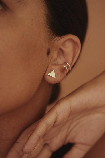 Brinco Triângulo + Piercing