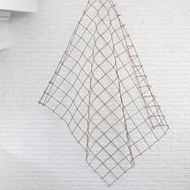 Rebar for a drape sculpture, 2018