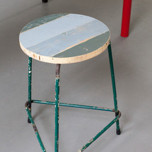 Stool / Working stool green, 2017