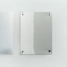 Mirror II (inox 4 nails), 2016