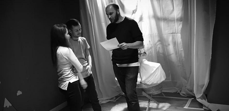 Sam Tring directing short film Cot