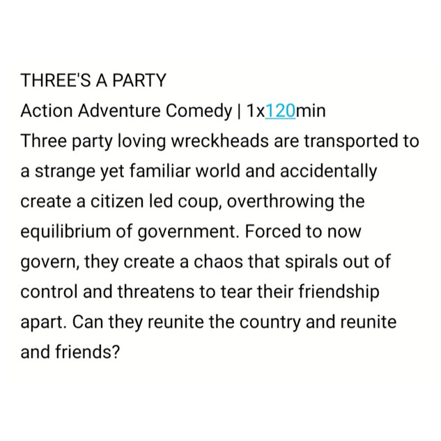 Three's a Party by Sam Tring