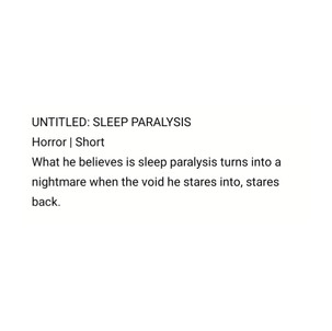 Sleep Paralysis by Sam Tring