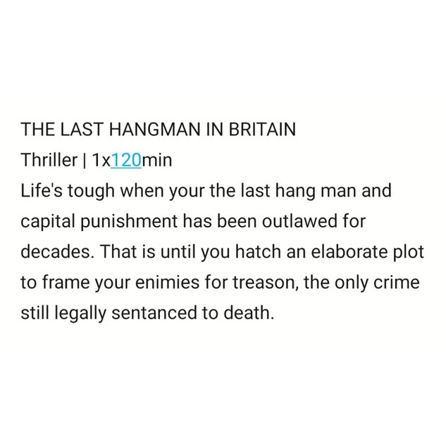 The Last Hangman in Britain by Sam Tring