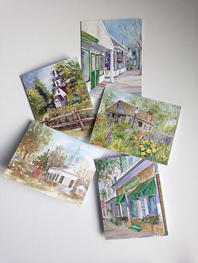 SMALL TOWN Art Note Card Collection