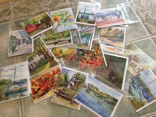 JEANNE'S CHOICE Art Note Card Collection 5 cards