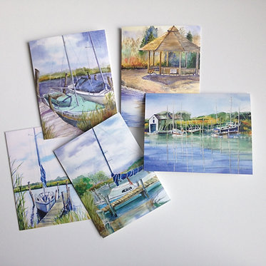 NAUTICAL Art Notecard Collection