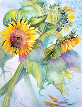 Art Note Card Sunny Face