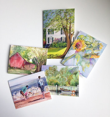 SUMMER DAYS Art Note Card Collection