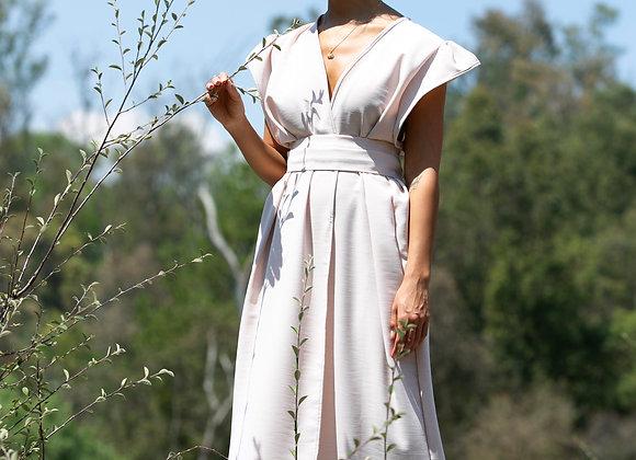 Light Pink Dress - Japanese Inspired Handmade Mexican Luxury Kimono
