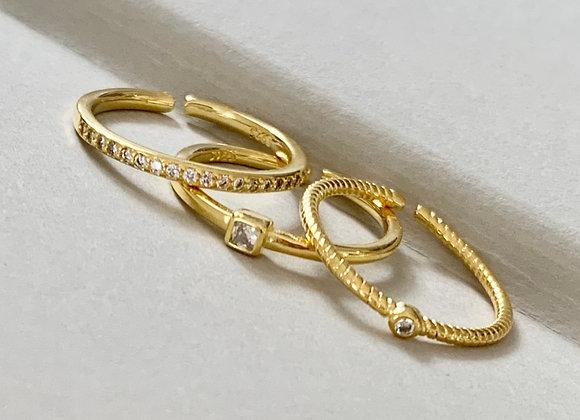 Mayan Triple Ring