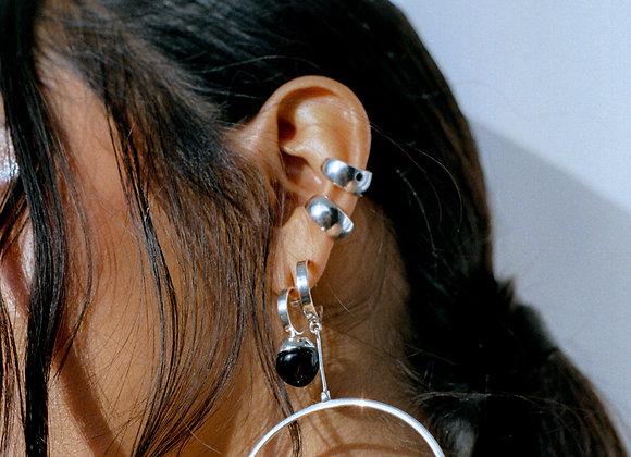 Silver Ear Cuffs With Sapphire