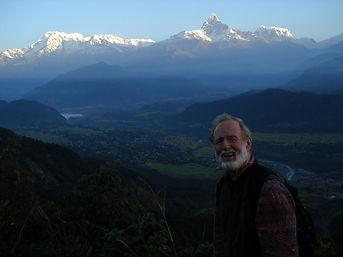 Himalayan mountain range surrounding Kathmandu