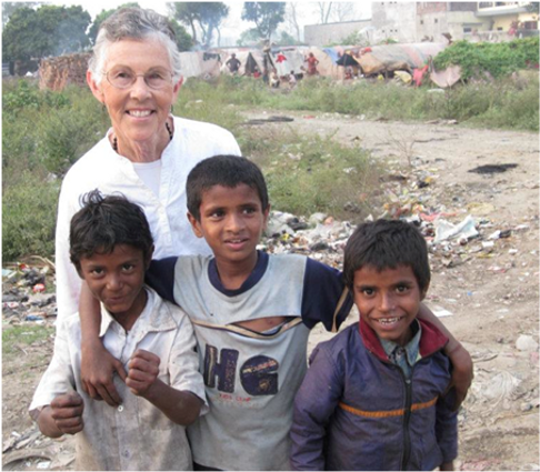 Mature Age Volunteer in Nepalese Village