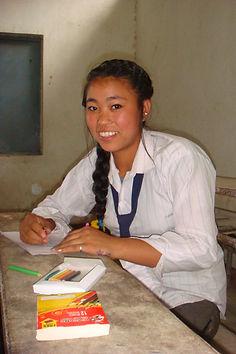 FVIN sponsored girl writing letter to sponsor