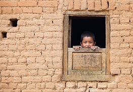Nepalese boy in  village, Nepal