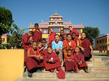 Janelle Jones, a Professional Volunteer, at Buddhist Monastery