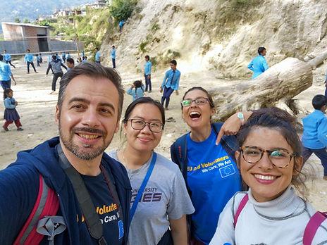 VIN international volunteers took photo