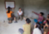 Volunteers Initiative Nepal international volunteers teaching Women's Empowerment class