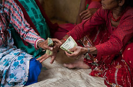 Nepalese women learning how to handle finances through women's empowerment