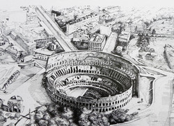 Desenho Nanquim Coliseu