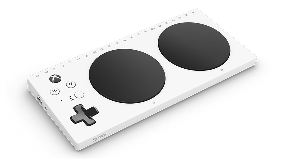 Picture of Microsoft's new XBOX controller built with accessibility in mind