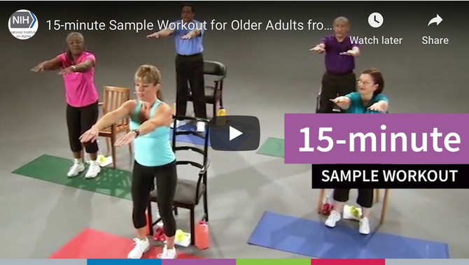 Aging In Place Exercise During the COVID19 Pandemic