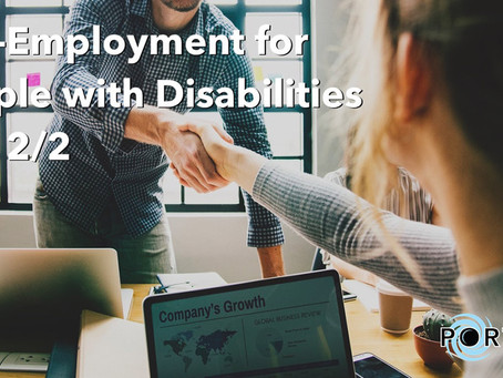Self-Employment For People With Disabilities Part 2/2