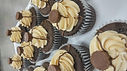 Chocolate Cupcake stuffed with peanut butter ganache and frosted with PB buttercream