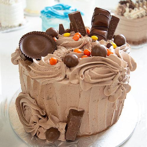 "Gourmet Peanut Butter Chocolate 4"" Cake"