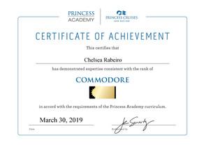 Princess Cruises Commodore Status