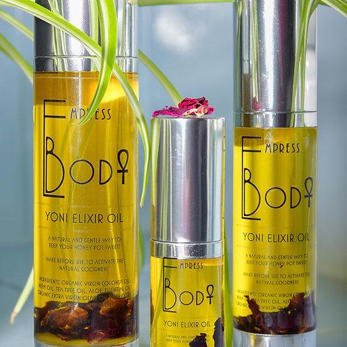 bottle of elixir oil for vaginal usage